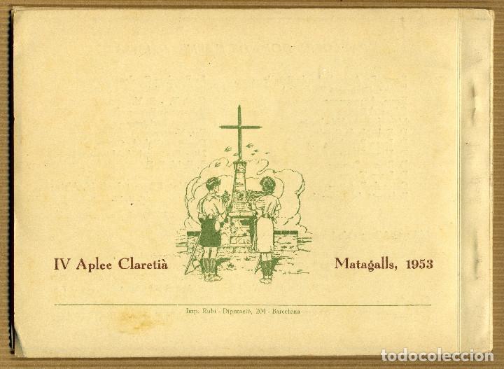 Libros de segunda mano: IV APLEC CLARETIA MATAGALLS, 1953 Mn. J. VERDAGUER I St. A. Mª. CLARET - Foto 5 - 190563677