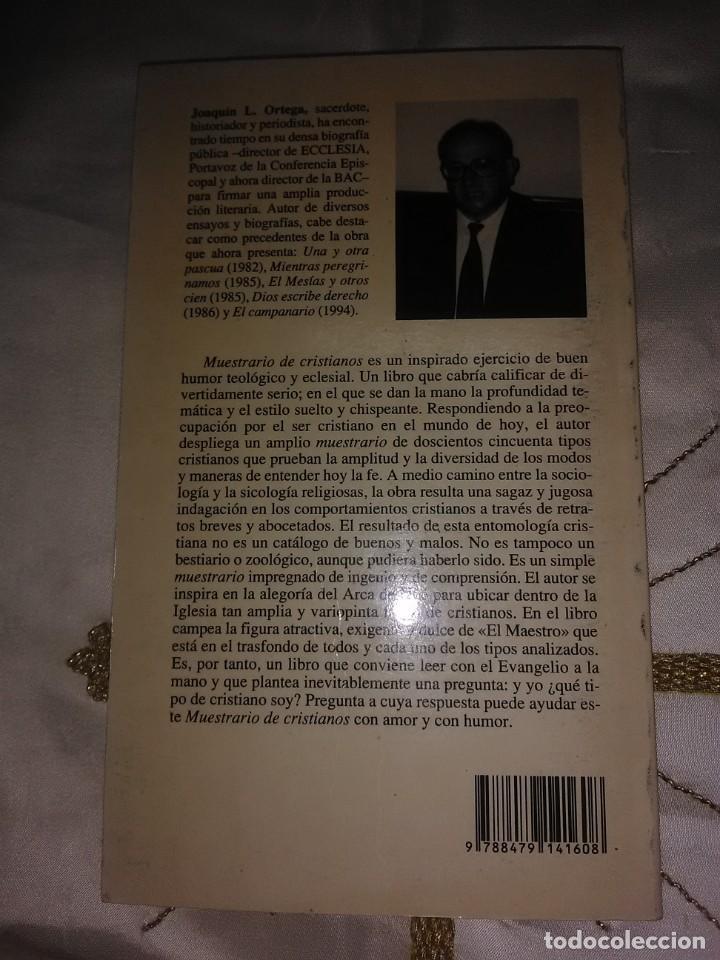 Libros de segunda mano: Muestrario de cristianos. J. L. Ortega. BAC popular, n. 106. 1995. - Foto 2 - 190640758