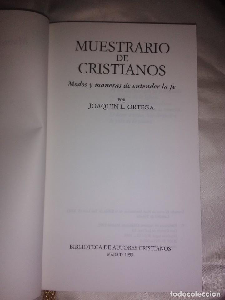 Libros de segunda mano: Muestrario de cristianos. J. L. Ortega. BAC popular, n. 106. 1995. - Foto 3 - 190640758
