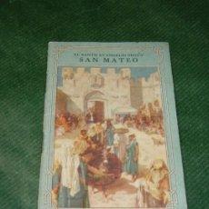 Libros de segunda mano: EL SANTO EVANGELIO SEGUN SAN MATEO, SOCIEDAD PARA LA DIFUSION DE LAS SAGRADAS ESCRITURAS, LONDON. Lote 190626930
