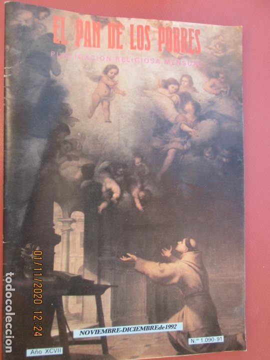 EL PAN DE LOS POBRES , PUBLICACIÓN RELIGIOSA MENSUAL Nº 1090-91 NOVIEMBRE -DICIEMBRE 1992 (Libros de Segunda Mano - Religión)