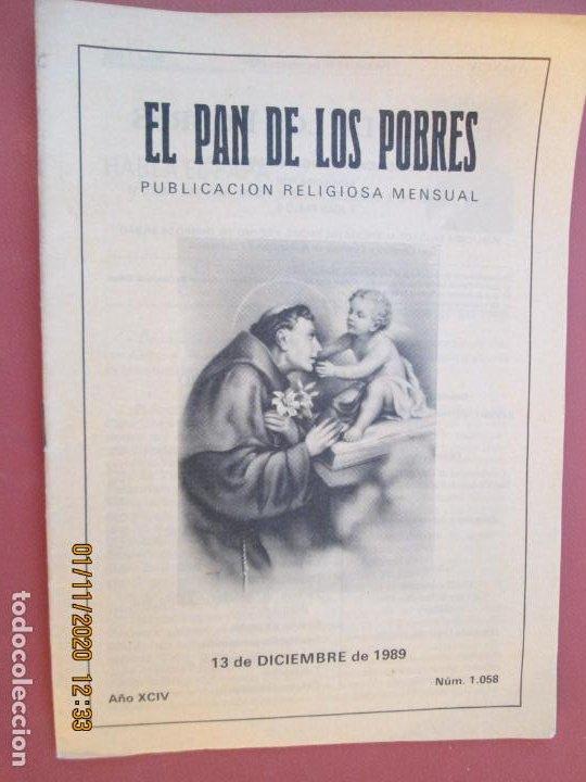 EL PAN DE LOS POBRES , PUBLICACIÓN RELIGIOSA MENSUAL Nº 1058 - DICIEMBRE 1058 (Libros de Segunda Mano - Religión)