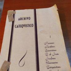 Libros de segunda mano: ARCHIVO CATEQUISTICO, 1955, VER. Lote 192846040
