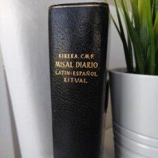 Libros de segunda mano: MISAL DIARIO LATÍN-ESPAÑOL RITUAL - P. LUIS RIBERA EDITORIAL REGINA 23ª EDICIÓN 1965 MUY BUEN ESTADO. Lote 192882081