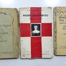 Libros de segunda mano: 3 LIBROS ANTIGUOS SANTA MARÍA MICAELA DEL SANTISIMO SACRAMENTO (ADORATRICES, VIZCONDESA DE JORBALÁN). Lote 193201361