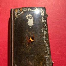 Libros de segunda mano: ANTIGUO MESAL EN CONCHA DE CAREY Y PLATA. GRAN TAMAÑO. Lote 193758180