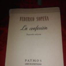Libros de segunda mano: LA CONFESIÓN. FEDERICO SOPEÑA. PATMOS, N 67. 1962. 2 ED.. Lote 194163632
