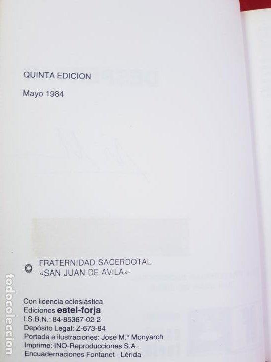 Libros de segunda mano: LIBRO-DESPERTAR-FRATERNIDAD SACERDOTALSAN JUAN DE ÁVILA-EDICIONES:ESTEL FORJA-5ªEDICIÓN-1984-VER F - Foto 6 - 194237877