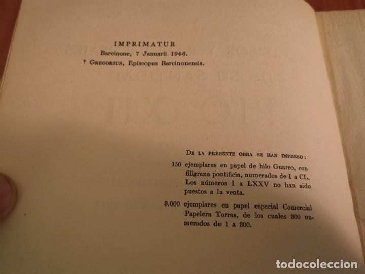 Libros de segunda mano: DISCURSOS Y RADIOMENSAJES DE SU SANTIDAD PIO XIII TERCER AÑO DE PONTIFICADO MARZO 1941-1942 1946 - Foto 3 - 194239913