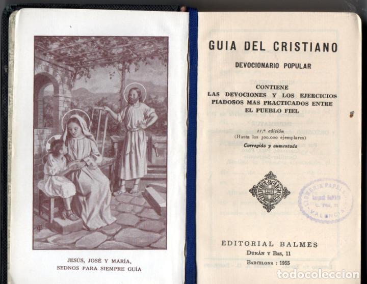 GUÍA DEL CRISTIANO. DEVOCIONARIO POPULAR. (Libros de Segunda Mano - Religión)