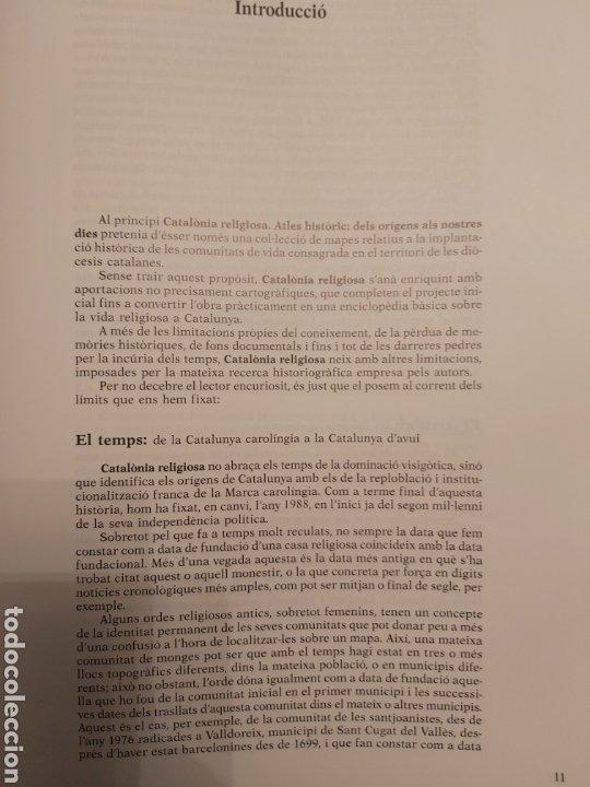 Libros de segunda mano: CATALONIA RELIGIOSA. ATLES HISTORIC: DELS ORIGENS ALS NOSTRES DIES. 1991 - Foto 3 - 194249593