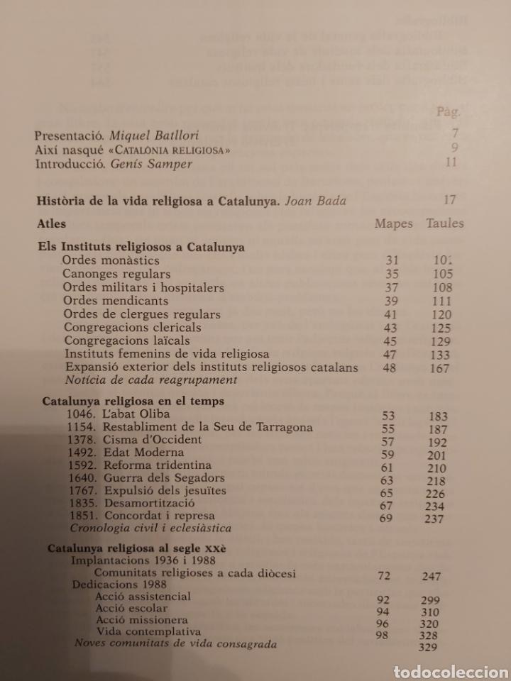 Libros de segunda mano: CATALONIA RELIGIOSA. ATLES HISTORIC: DELS ORIGENS ALS NOSTRES DIES. 1991 - Foto 4 - 194249593