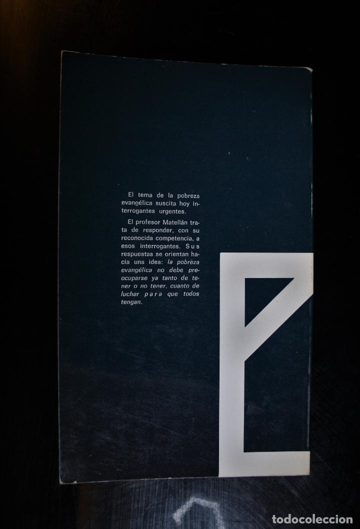 Libros de segunda mano: Pobreza evangélica. Serafín Matellán, C.M.F.. Ed. Publicaciones Claretianas. Madrid 1975. - Serafín - Foto 2 - 194286408