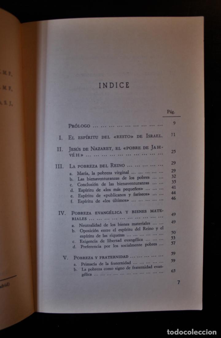 Libros de segunda mano: Pobreza evangélica. Serafín Matellán, C.M.F.. Ed. Publicaciones Claretianas. Madrid 1975. - Serafín - Foto 4 - 194286408