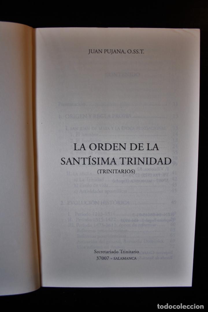 Libros de segunda mano: La Orden de la Santísima Trinidad. Juan Pujana, OST. Ed. Secretariado Trinitario. Salamanca 1993. - - Foto 3 - 194286412