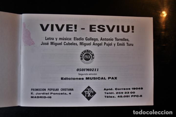"""Libros de segunda mano: """"Cancionero """"""""Vive"""""""". Kairoi. Ed. PPC. Madrid 1988. """" - Kairoi - Foto 2 - 194286416"""