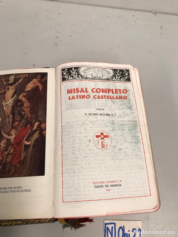 Libros de segunda mano: Misal completo latino castellano - Foto 3 - 194350236