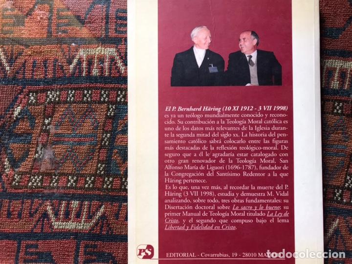 Libros de segunda mano: B. Haring un renovador de la moral católica. Marciano Vidal - Foto 2 - 194359123