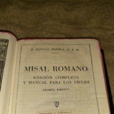 Libros de segunda mano: MISAL ROMANO EDICIÓN COMPLETA Y MANUAL PARA LOS FIELES CUARTA EDICIÓN. Lote 194502060