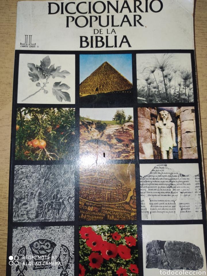 DICCIONARIO POPULAR DE LA BIBLIA. LIBROS LOGOI. AÑO 1971. RÚSTICA. PÁGINAS 250. PESO 400 GR. (Libros de Segunda Mano - Religión)