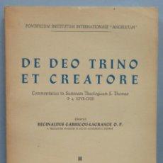 Libros de segunda mano: DE DEO TRINO ET CREATORE. GARRIGOU-LAGRANGE, O.P. Lote 194588766