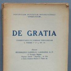 Libros de segunda mano: DE GRATIA. GARRIGOU-LAGRANGE, O.P. Lote 194588960