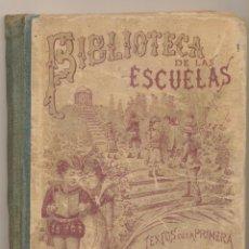 Libros de segunda mano: BIBLIOTECA DE LAS ESCUELAS. HISTORIA SAGRADA. TEXTOS DE LA PRIMERA ENSEÑANZA POR SATURNINO CALLEJA. . Lote 194681472