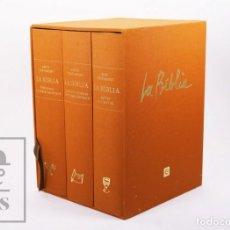 Libros de segunda mano: 3 TOMOS / LIBROS - LA BÍBLIA, ILUSTRADA POR PERICO PASTOR - ENCICLOPÈDIA CATALANA, 2007 - #FLA. Lote 194860336