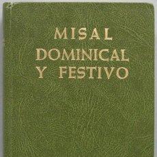 Libros de segunda mano: 1985.- MISAL DOMINICAL Y FESTIVO. B.A.C. Lote 194861745