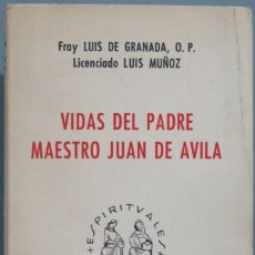 Libros de segunda mano: VIDAS DEL PADRE MAESTRO JUAN DE ÁVILA. Lote 194901416