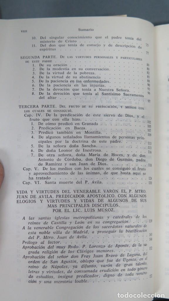 Libros de segunda mano: VIDAS DEL PADRE MAESTRO JUAN DE ÁVILA - Foto 3 - 194901416