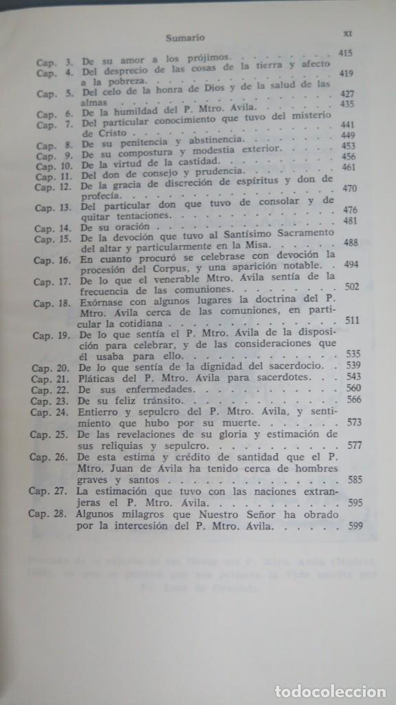 Libros de segunda mano: VIDAS DEL PADRE MAESTRO JUAN DE ÁVILA - Foto 6 - 194901416