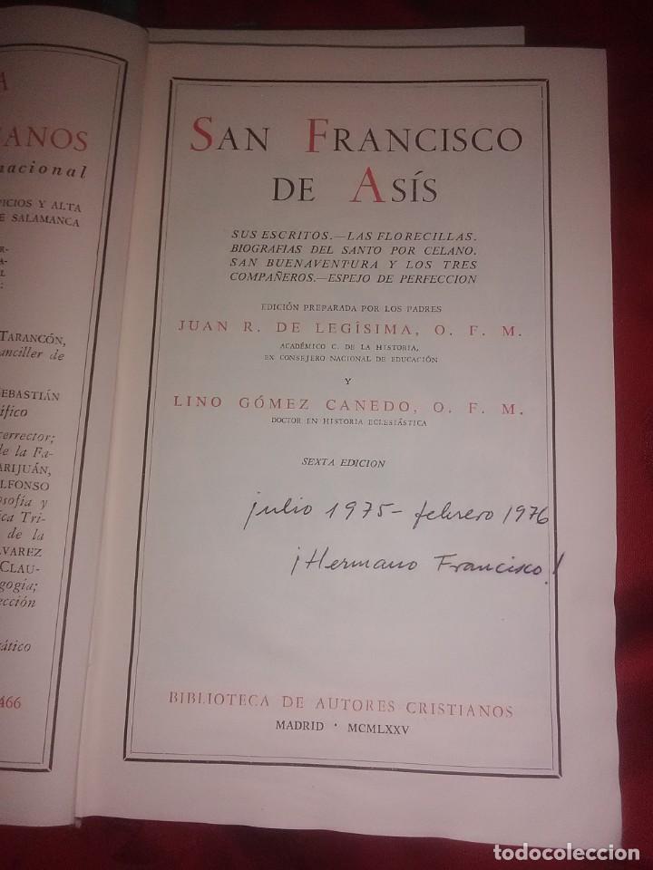 Libros de segunda mano: Escritos Completos de San Francisco de Asís. BAC, n. 4. 1975. 6ª ed. - Foto 2 - 194903045