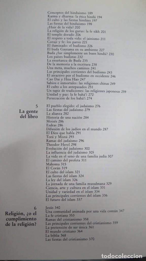 Libros de segunda mano: EL MUNDO DE LAS RELIGIONES. EDITORIAL VERBO DIVINO. EDICIONES PAULINAS - Foto 3 - 194903357