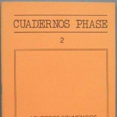 Libros de segunda mano: ACUERDOS ECUMENICOS SOBRE LA EUCARISTIA. CUADERNOS PHASE. 2. Lote 194965585