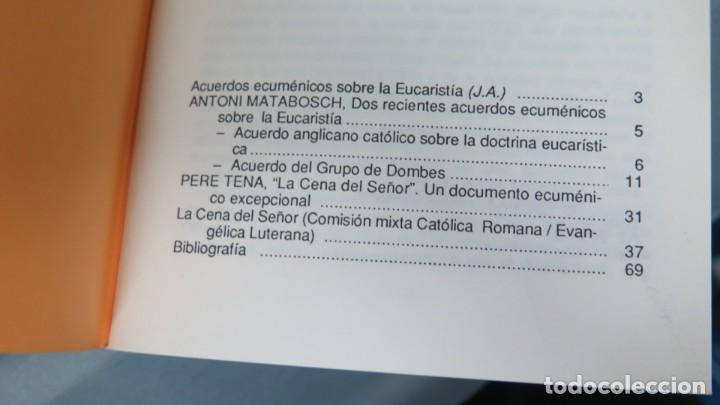Libros de segunda mano: ACUERDOS ECUMENICOS SOBRE LA EUCARISTIA. CUADERNOS PHASE. 2 - Foto 2 - 194965585