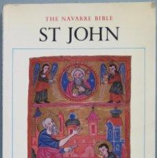 Libros de segunda mano: THE NAVARRE BIBLE ST. JOHN. Lote 194966850