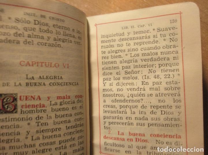Libros de segunda mano: Miniatura La Imitación de Cristo + La Santa Misa y otras devociones, Editorial Regina, 1949 - Foto 8 - 194970937