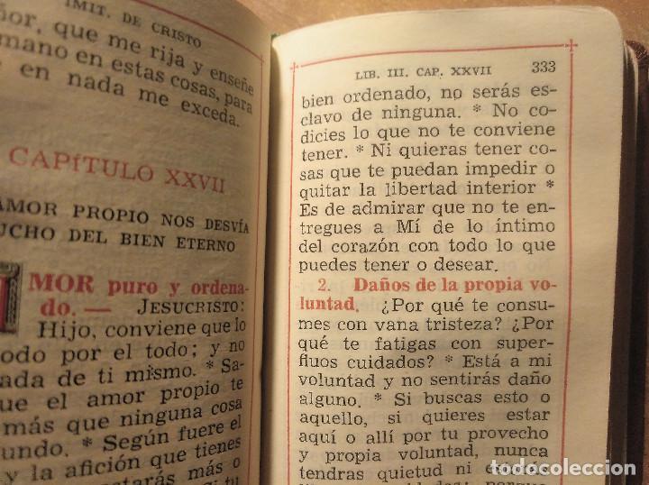 Libros de segunda mano: Miniatura La Imitación de Cristo + La Santa Misa y otras devociones, Editorial Regina, 1949 - Foto 10 - 194970937