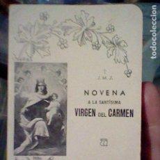 Libros de segunda mano: 1938 VIRGEN CARMEN NOVENA 64 PAG HOJAS ROSA 12 X 8 CMS TIEMPOS GUERRA CIVIL. Lote 194980156