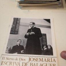 Libros de segunda mano: G-KUKI84 REVISTA EL SIERVO DE DIOS JOSEMARIA ESCRIVA DE BALAGUER OPUS DEI Nº 11. Lote 195041208