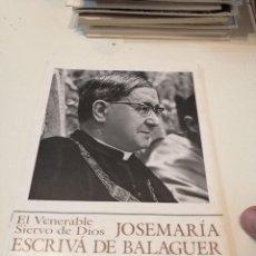 Libros de segunda mano: G-KUKI84 REVISTA EL SIERVO DE DIOS JOSEMARIA ESCRIVA DE BALAGUER OPUS DEI Nº 13. Lote 195041330