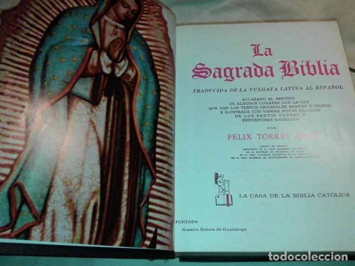 Libros de segunda mano: LA SAGRADA BIBLIA, FELIX TORRES AMAT, Pesa 3 kg - Foto 4 - 195050016