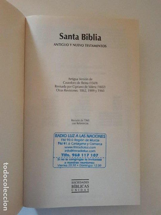 Libros de segunda mano: LA SANTA BIBLIA: REINA-VALERA 1960. SOCIEDADES BÍBLICAS UNIDAS - Foto 2 - 195052048