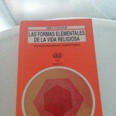 Libros de segunda mano: FORMAS ELEMENTALES DE VIDA RELIGIOSA. Lote 195067126