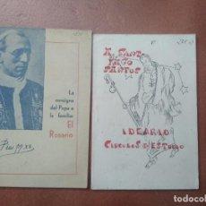 Libros de segunda mano: LOTE DE 2 LIBRITOS RELIGIOSOS EL ROSARIO PIO 12 , A SANTIAGO SANTOS CIRCULOS DE ESTUDIO. Lote 195225122