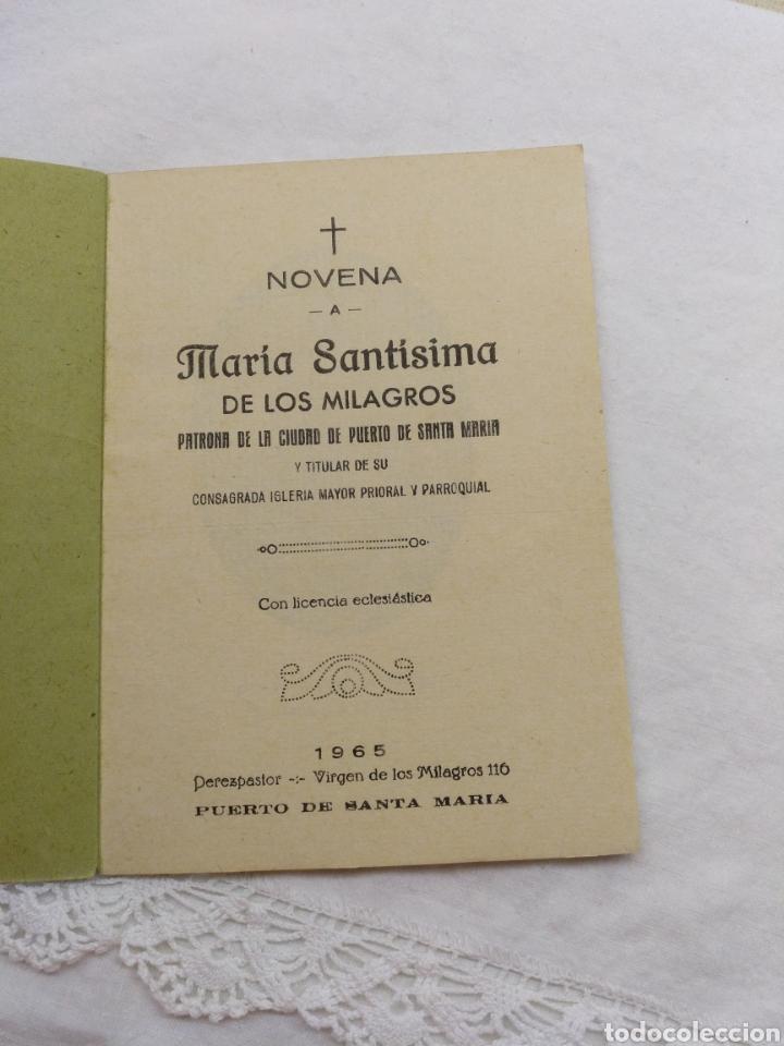 Libros de segunda mano: NOVENA A MARÍA SANTÍSIMA DE LOS MILAGROS 1965 - Foto 3 - 195227245