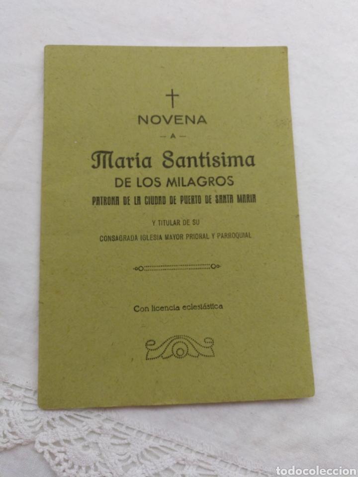 NOVENA A MARÍA SANTÍSIMA DE LOS MILAGROS 1965 (Libros de Segunda Mano - Religión)