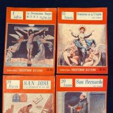 Libros de segunda mano: CUATRO NÚMEROS DE COLECCIÓN NUESTROS SANTOS. Lote 195231978