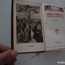 Libros de segunda mano: MISAL COMPLETO LATINO CASTELLANO. Lote 195261683